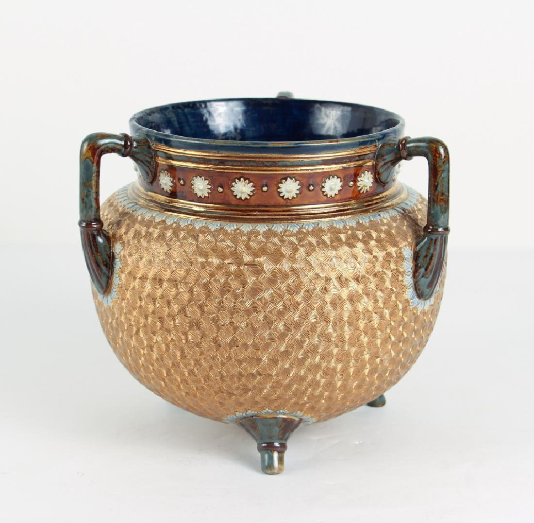 Doulton Lambeth Three Footed and Handled copper coil