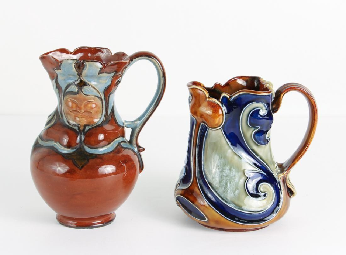 2 Doulton Lambeth Art Nouveau Vases, one Frank Butler