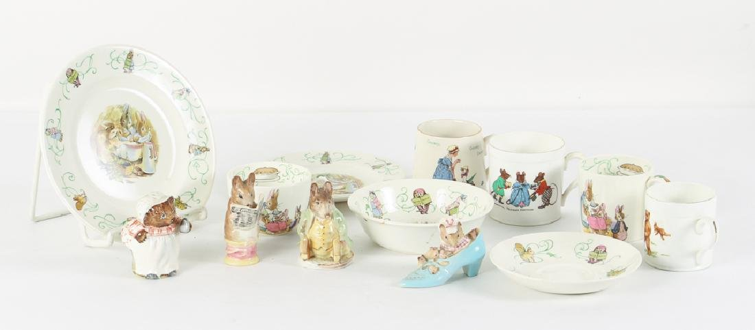 Group of Beatrix Potter  Figurines and China