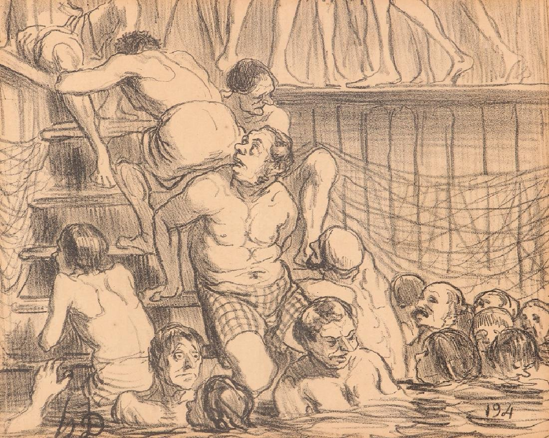 Honore Daumier 19th Century Newspaper Illustration
