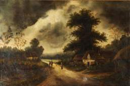 Keen antique painting The Country Road