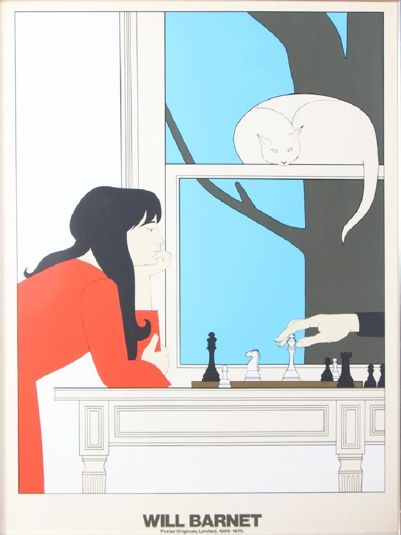 Large Will Barnet Chess Player Poster
