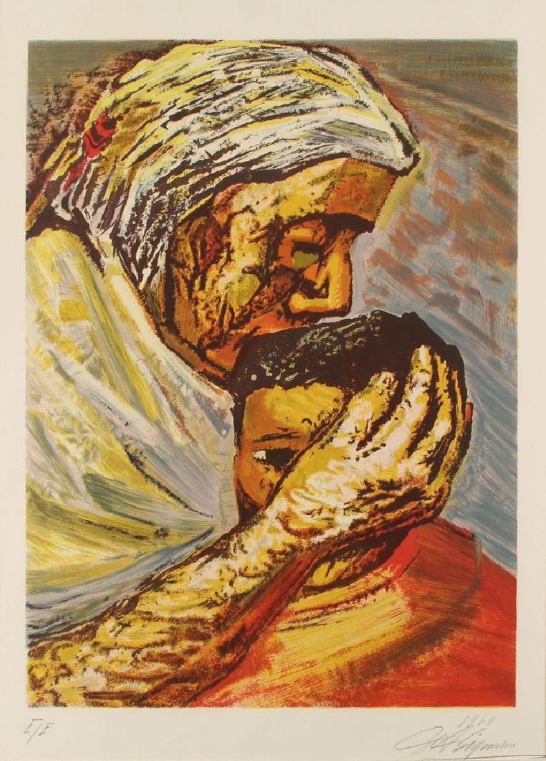 David Alfaro Siqueiros 1969 orig litho Mother and Child
