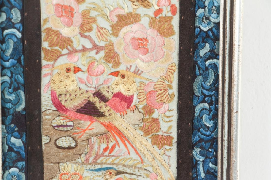 Two Antique Framed Chinese Embroidery Panels - 7