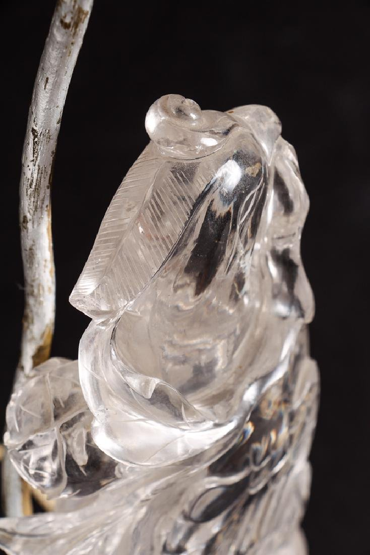 Antique Chinese Rock Crystal Parrot - 9
