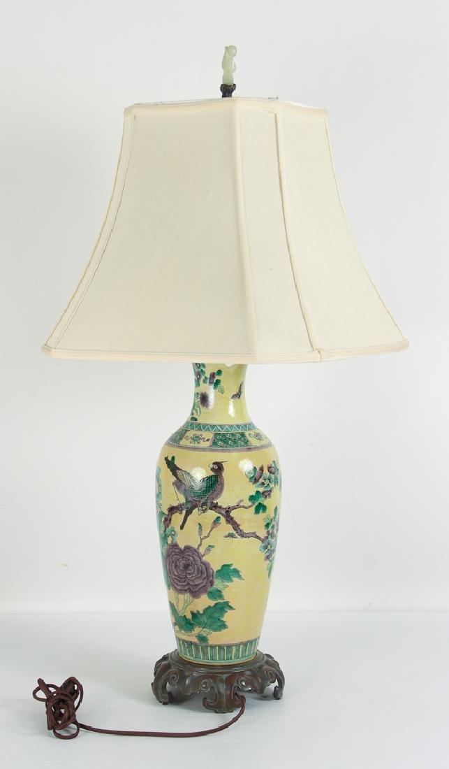 Antique Chinese Yellow Ground Vase - 2