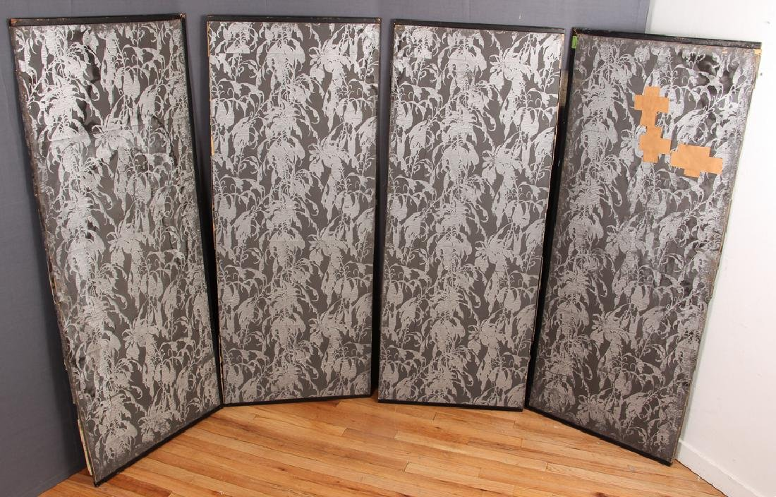 Japanese Four Panel Screen with Cranes - 2