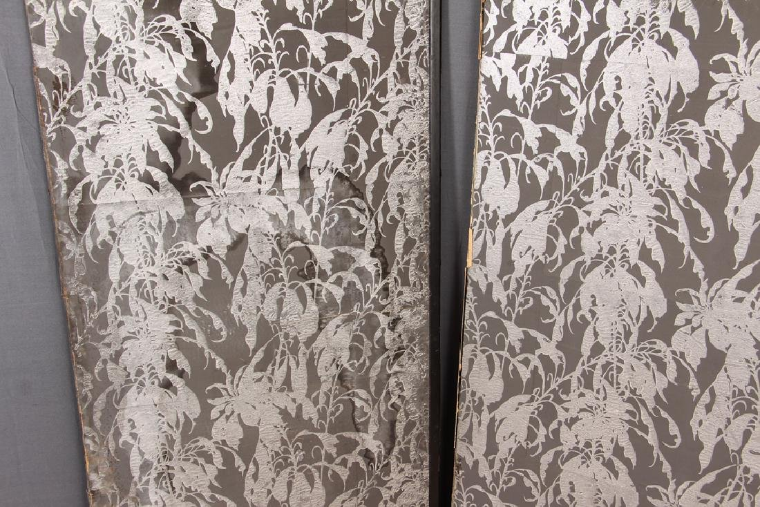 Japanese Four Panel Screen with Cranes - 3