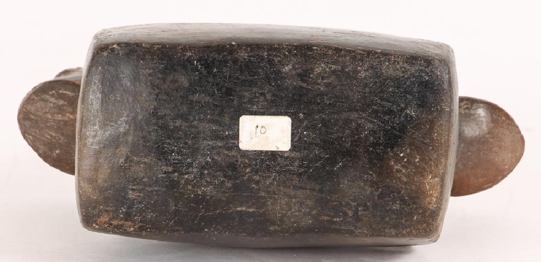 Peruvian Pre-Columbian Black Stirrup 2 Frog Vase - 5