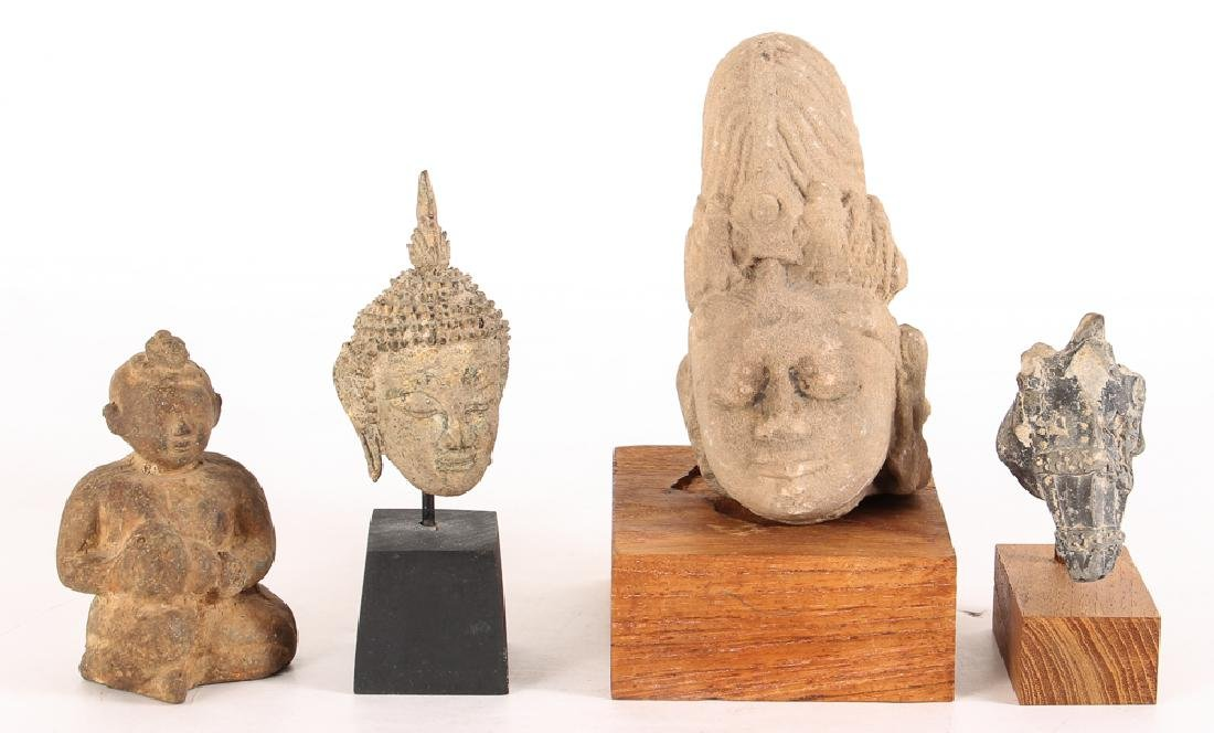 4 Ancient Asian artifacts