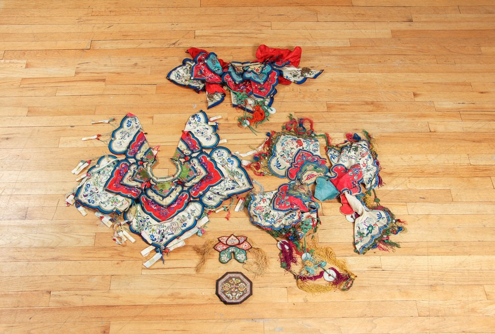 Three Antique Chinese Collars
