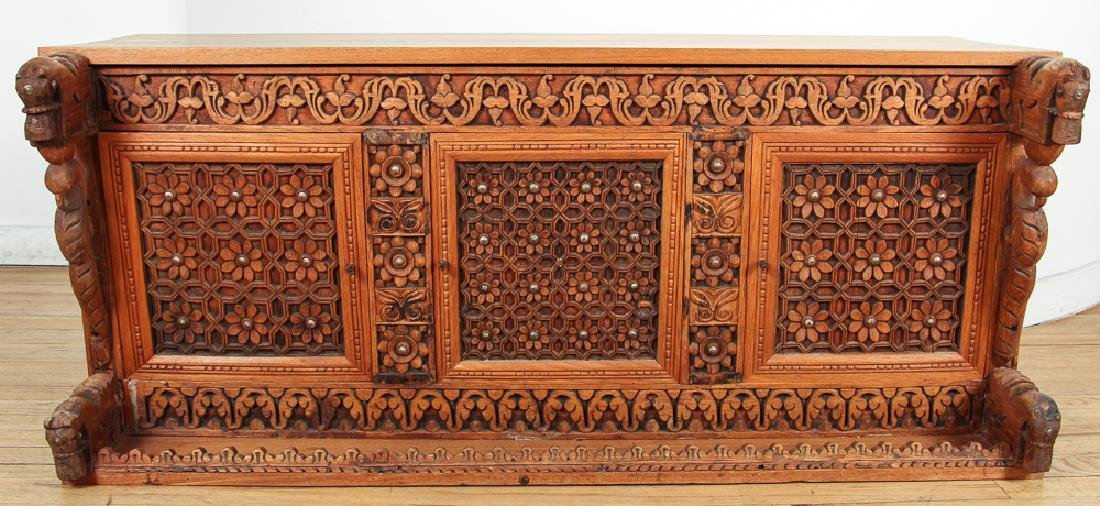 Indian Carved Storage Chest