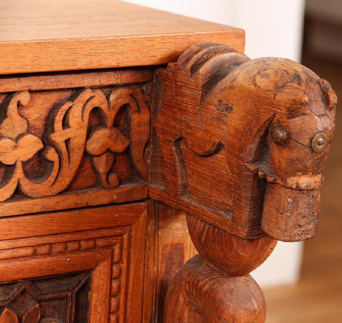 Indian Carved Storage Chest - 4