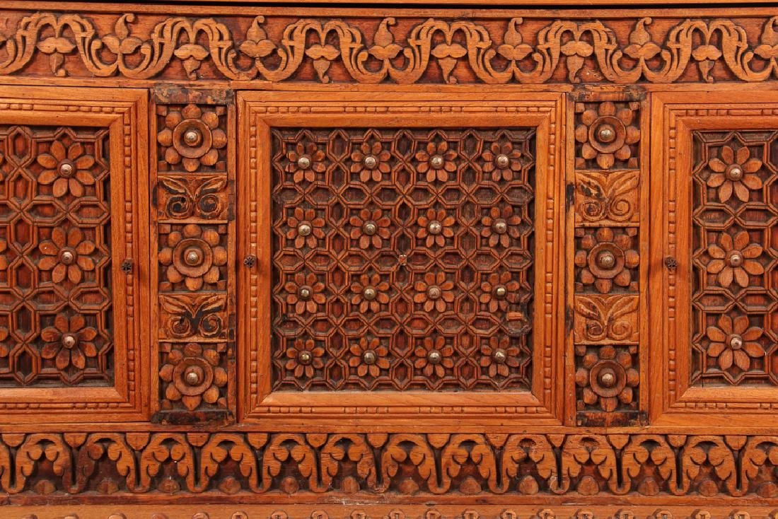 Indian Carved Storage Chest - 5