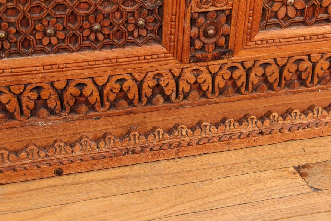 Indian Carved Storage Chest - 6