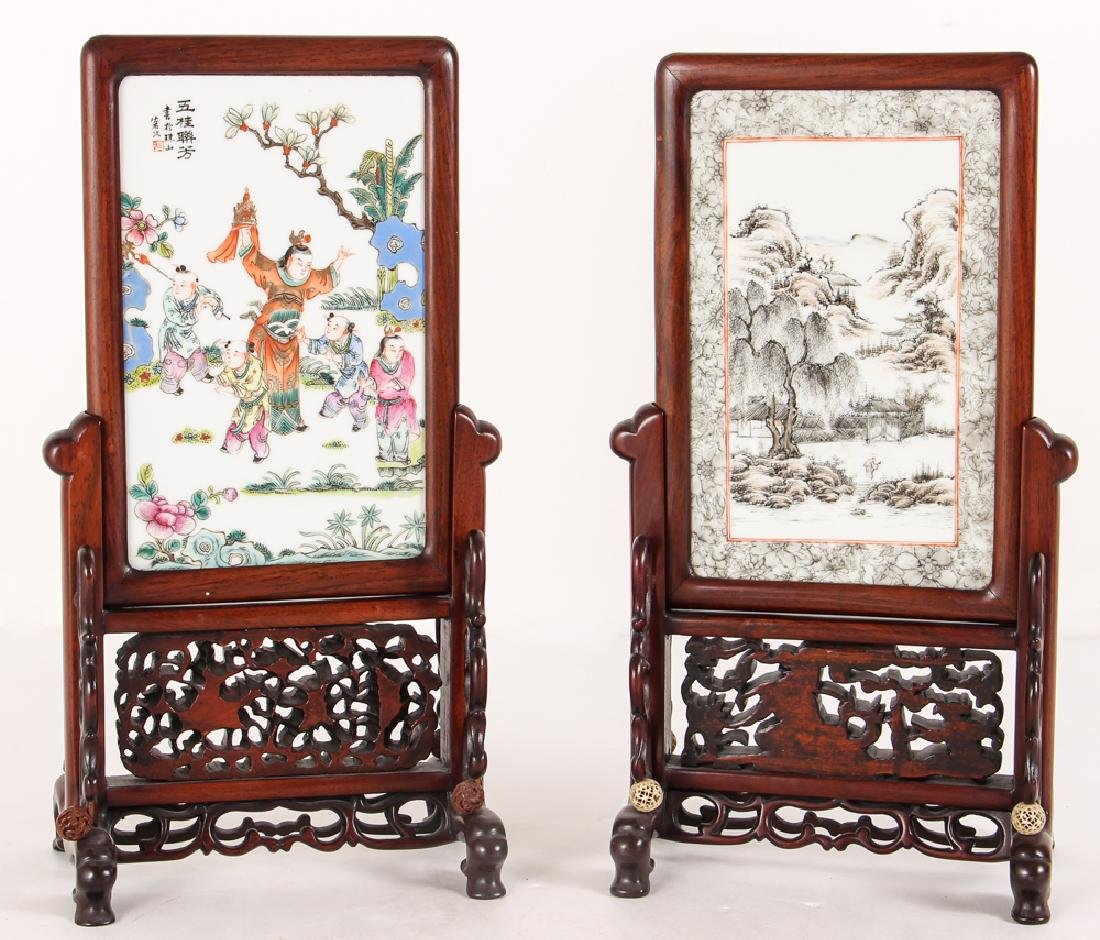 Two Republic Period Chinese Painted Plaques