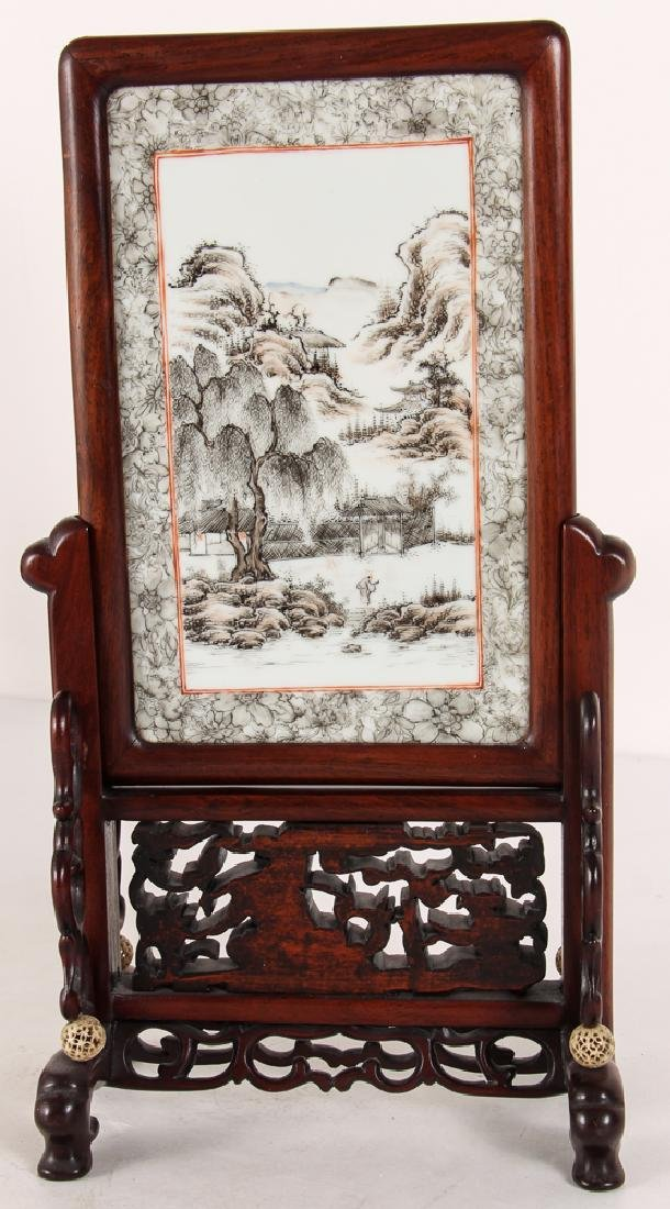 Two Republic Period Chinese Painted Plaques - 6