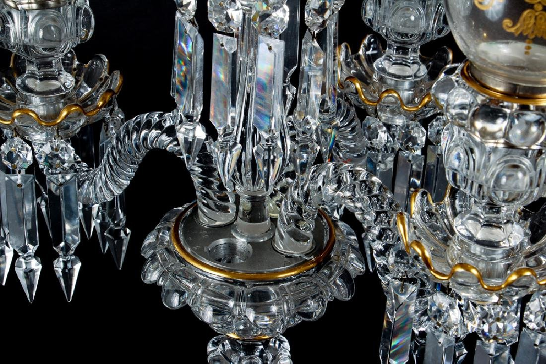 Baccarat Attributed Four Light  Crystal Candelabra - 5
