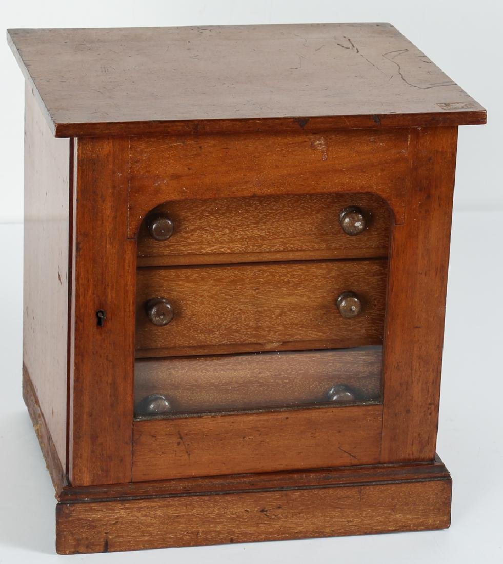 Small Antique Sterilizer Style Medical Cabinet