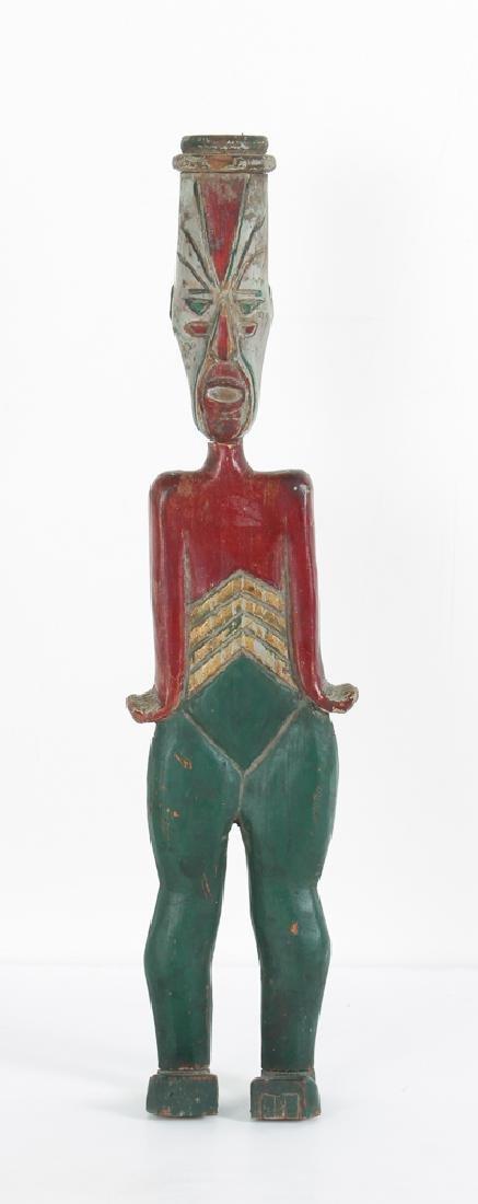 Vintage Folk Art Carved Clown Figure