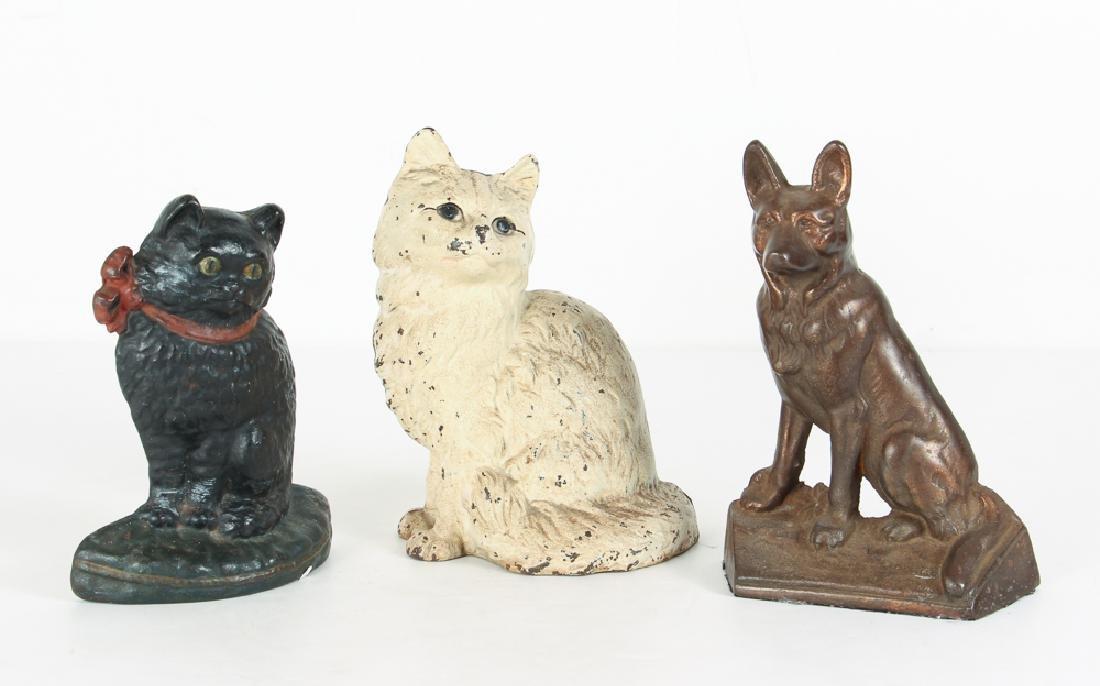 Three Cat and Dog Themed Doorstops