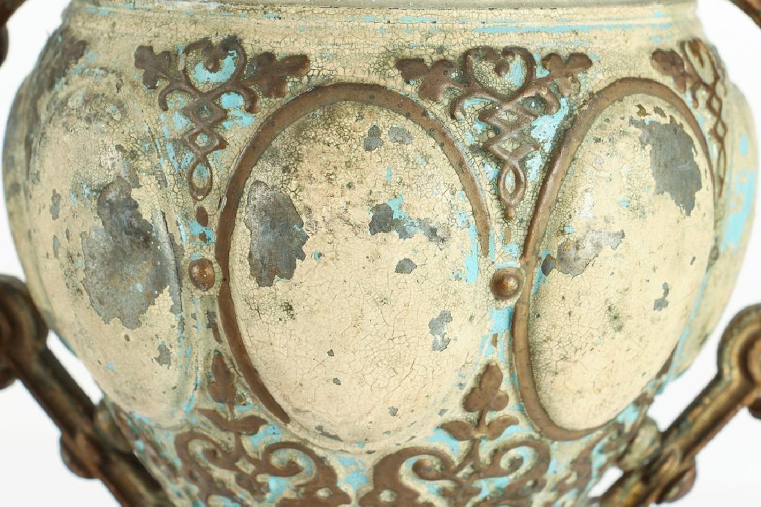 Renaissance Style TOLE AND BRASS PEDESTAL Centerpiece - 8