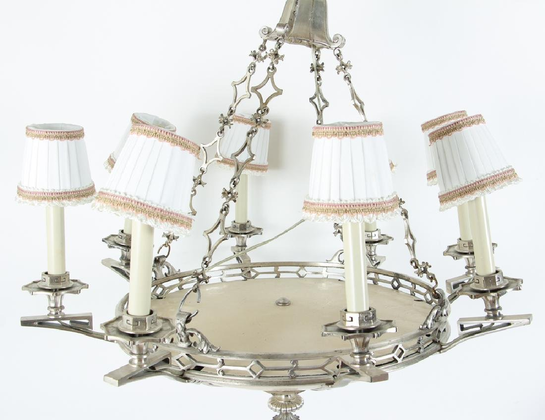 Art Deco Eight Light Chandelier - 2