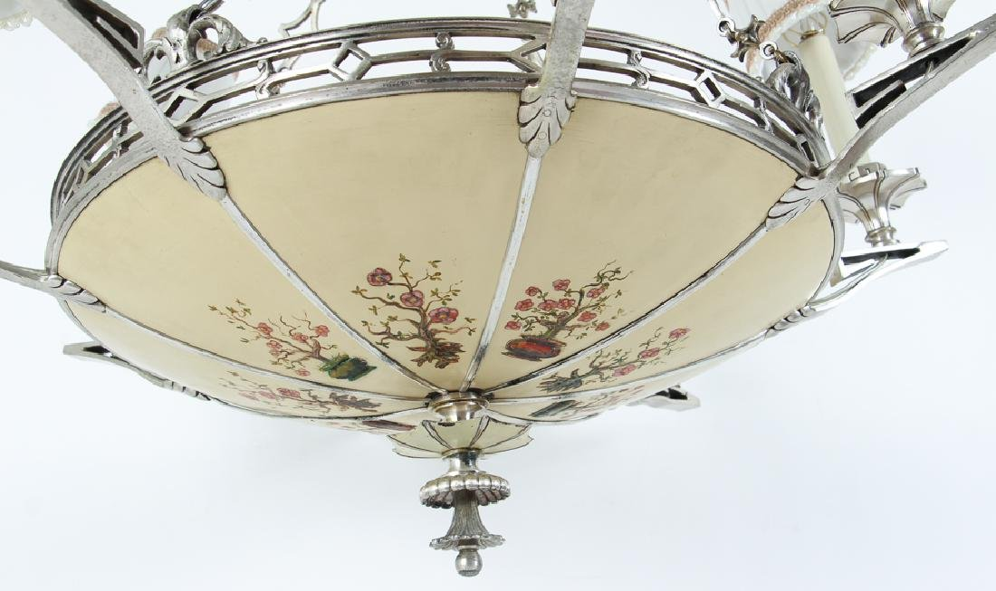 Art Deco Eight Light Chandelier - 6