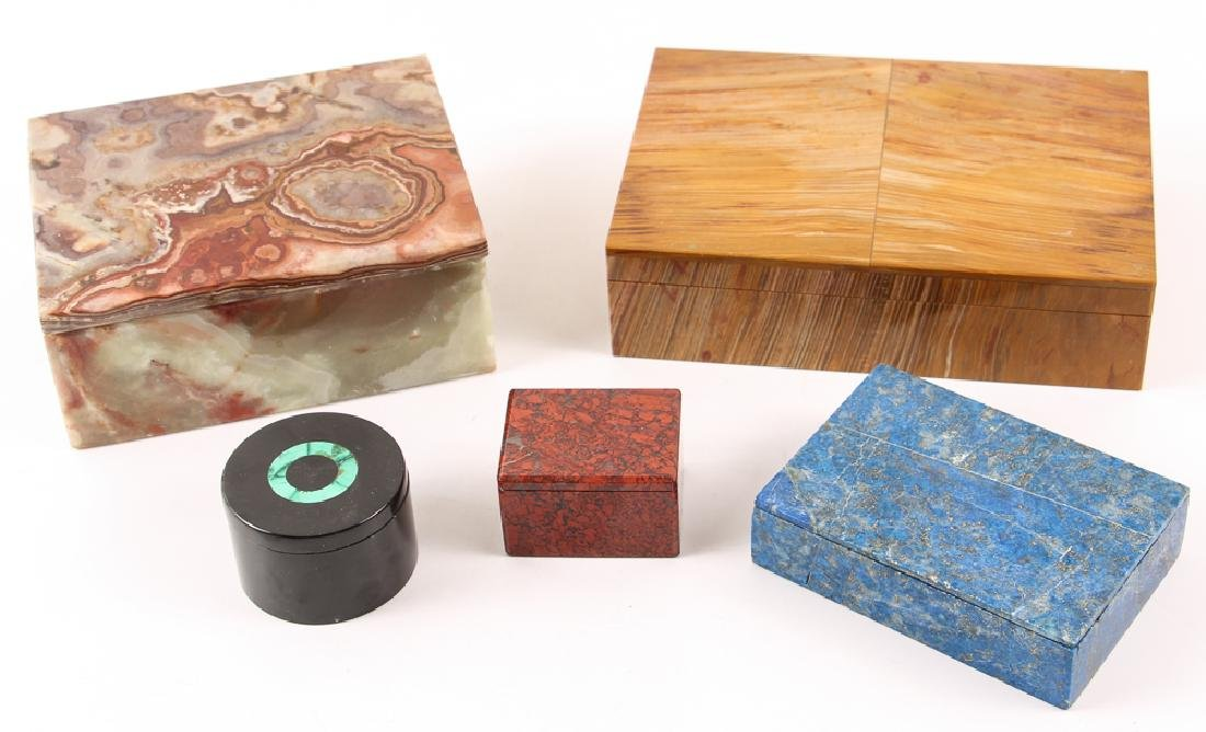 Five Stone and Mineral Specimen Boxes