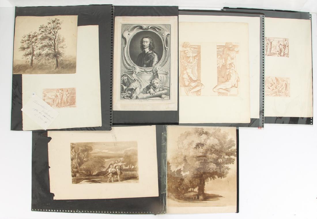 Loose Assortment of 12 Antique Prints