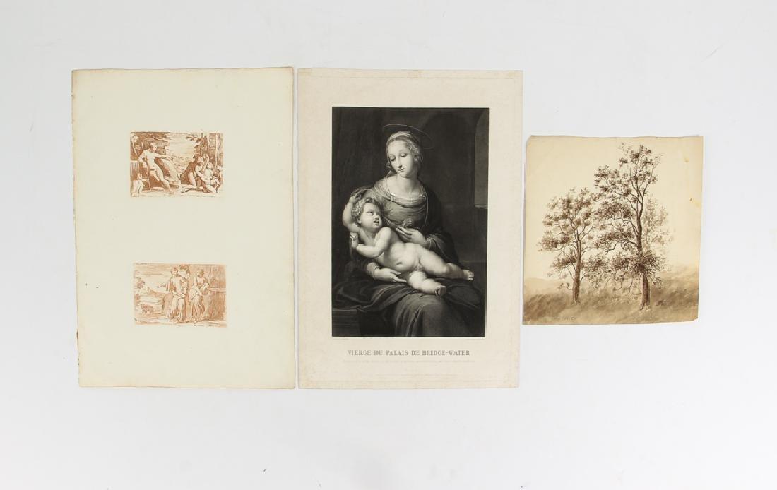 Loose Assortment of 12 Antique Prints - 2