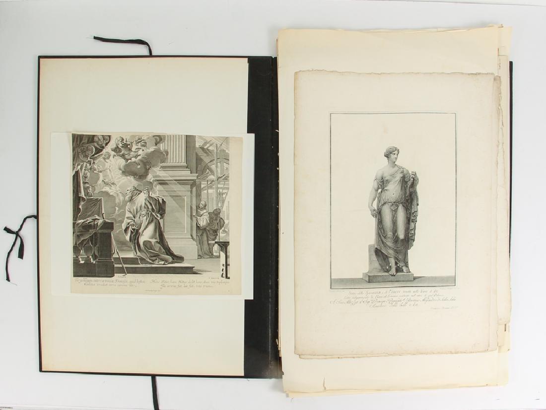 Loose Assortment of 16 Antique Classical Prints
