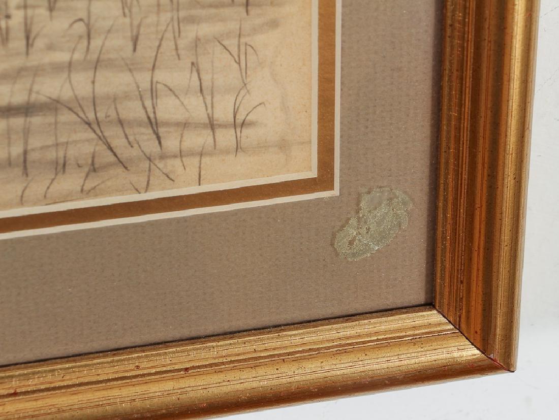 Two Folk Art Drawings of Cats - 3