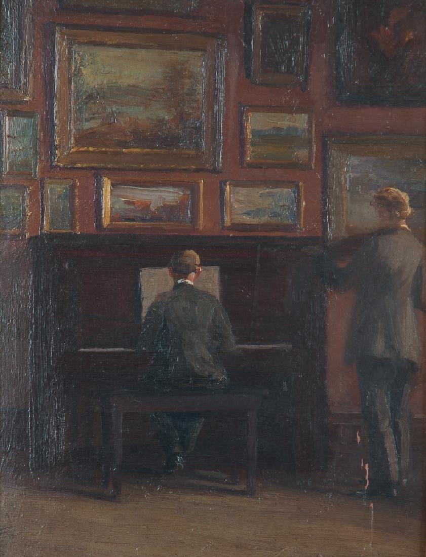 Unsigned Musicians Studio Painting