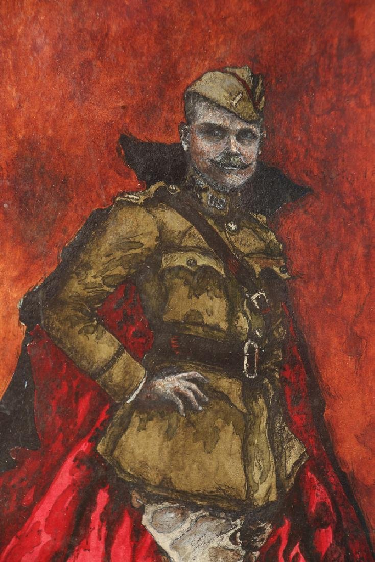 World War One Soldier  Portrait Watercolor - 2