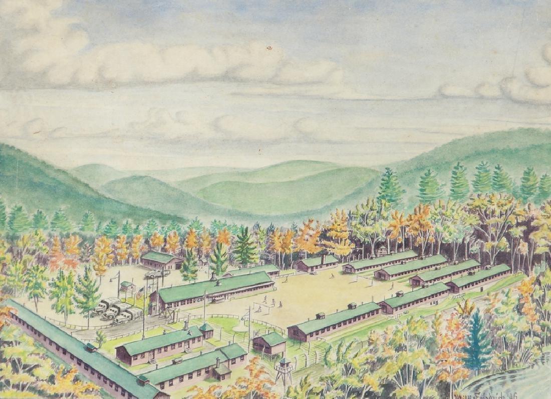 WW 2 Folk Depiction of an Army Barracks
