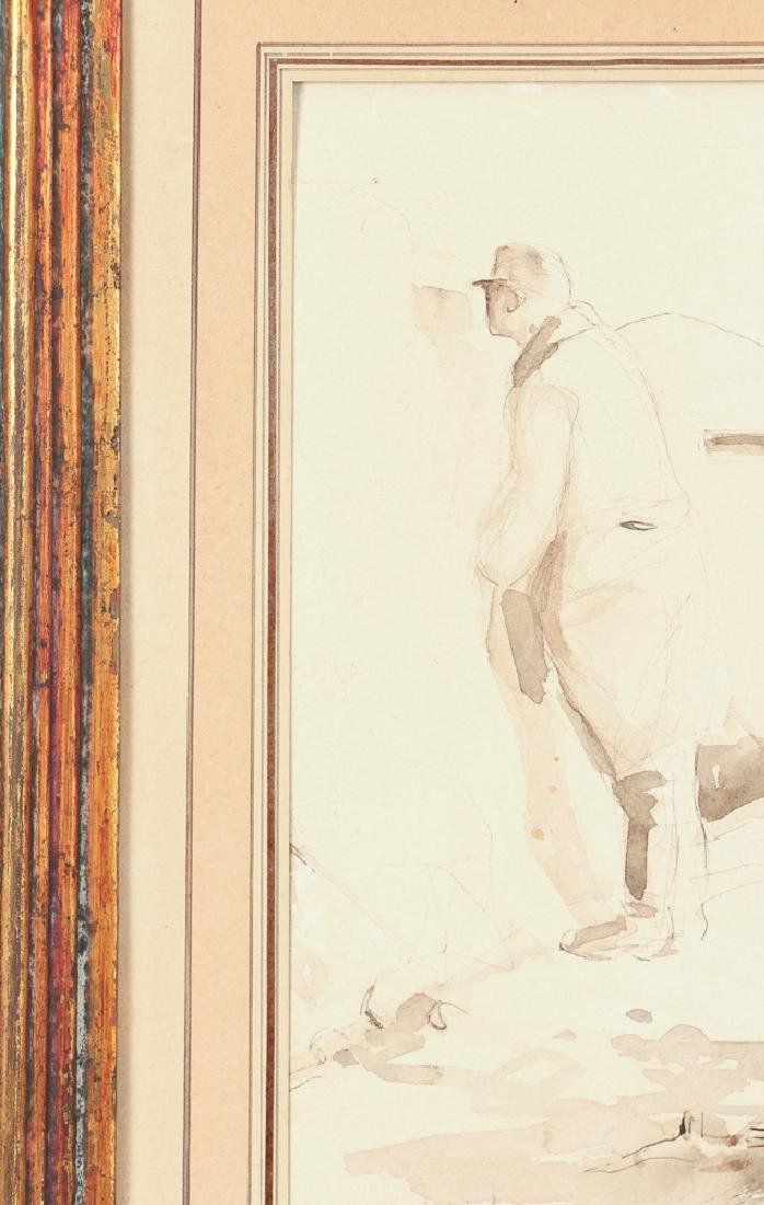 World War One Trench Warfare Watercolor Sketch - 5