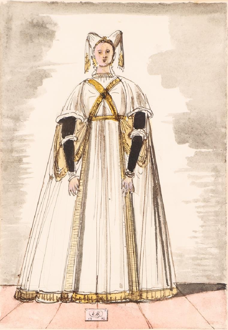Eugene Berman 1966 Costume Design watercolor