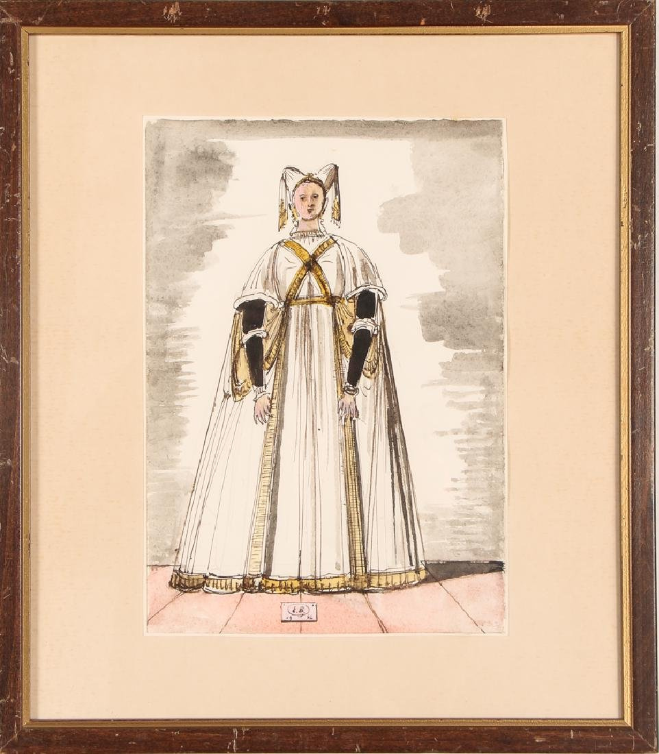 Eugene Berman 1966 Costume Design watercolor - 2