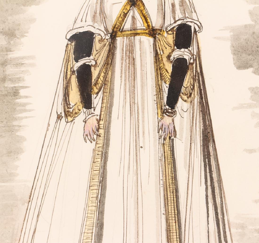 Eugene Berman 1966 Costume Design watercolor - 4