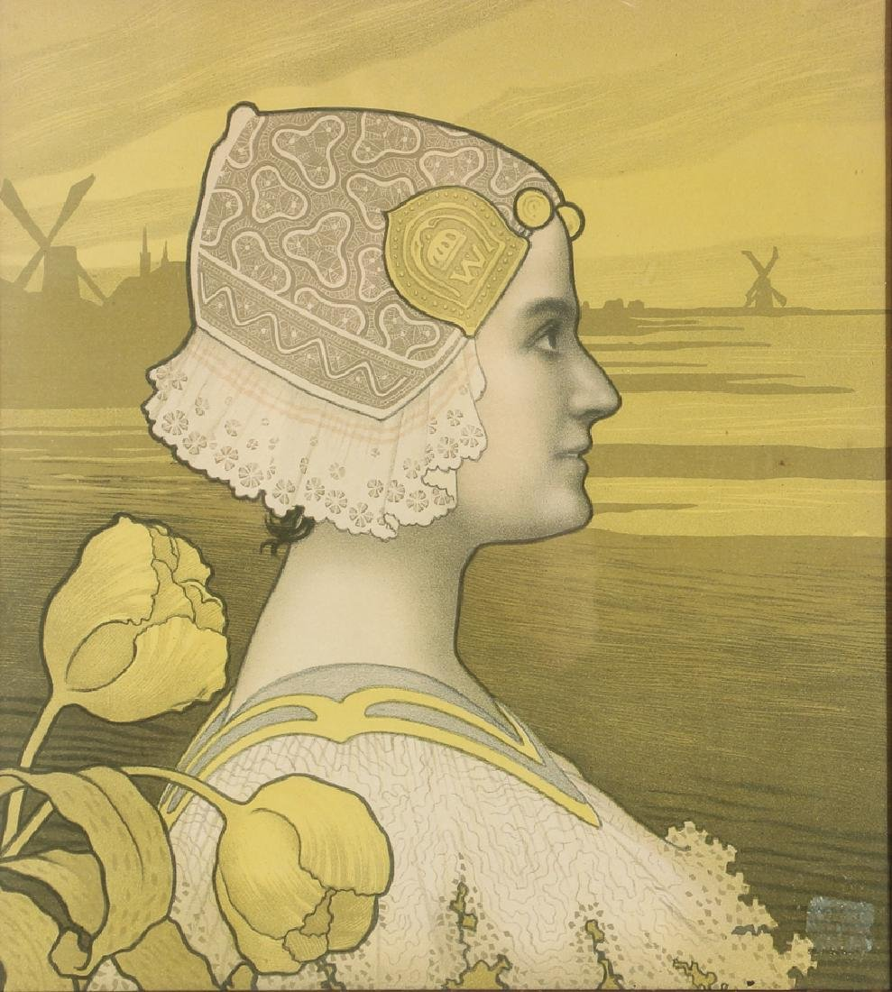 Paul Berthon Queen Wilhelmina Chromolithograph
