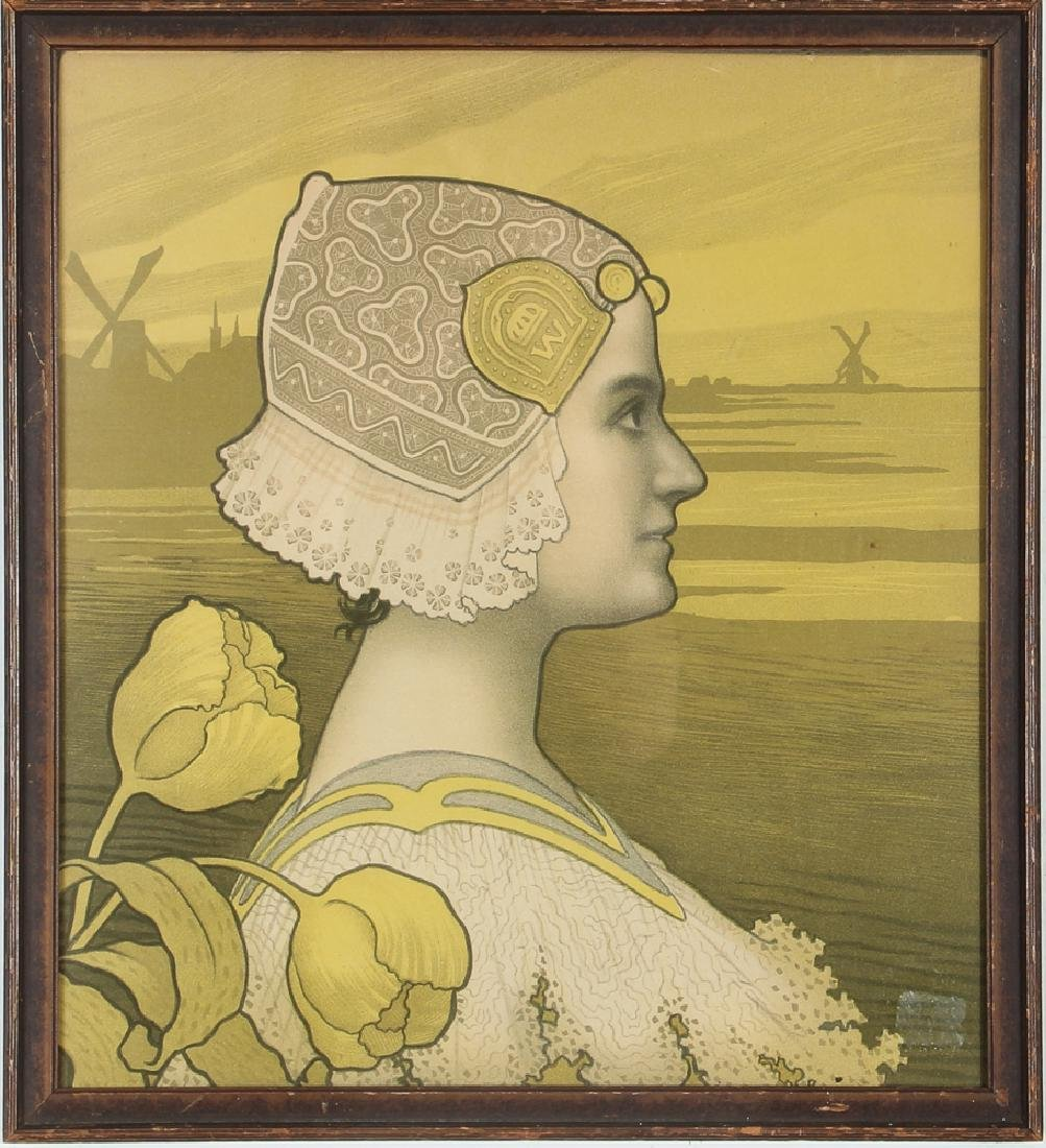 Paul Berthon Queen Wilhelmina Chromolithograph - 2