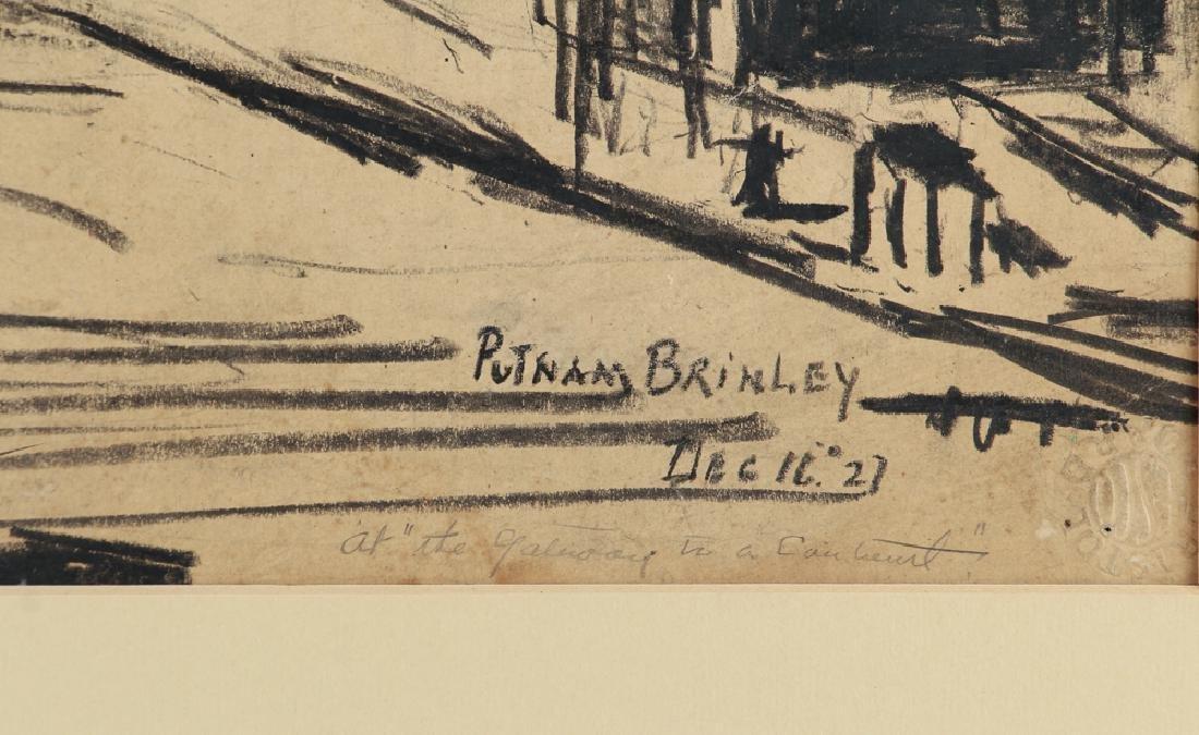 Daniel Putnam Brinley charcoal of 1927 Railroad - 3