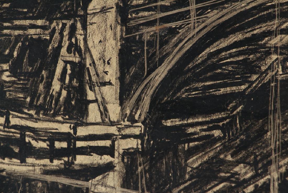 Daniel Putnam Brinley charcoal of 1927 Railroad - 6