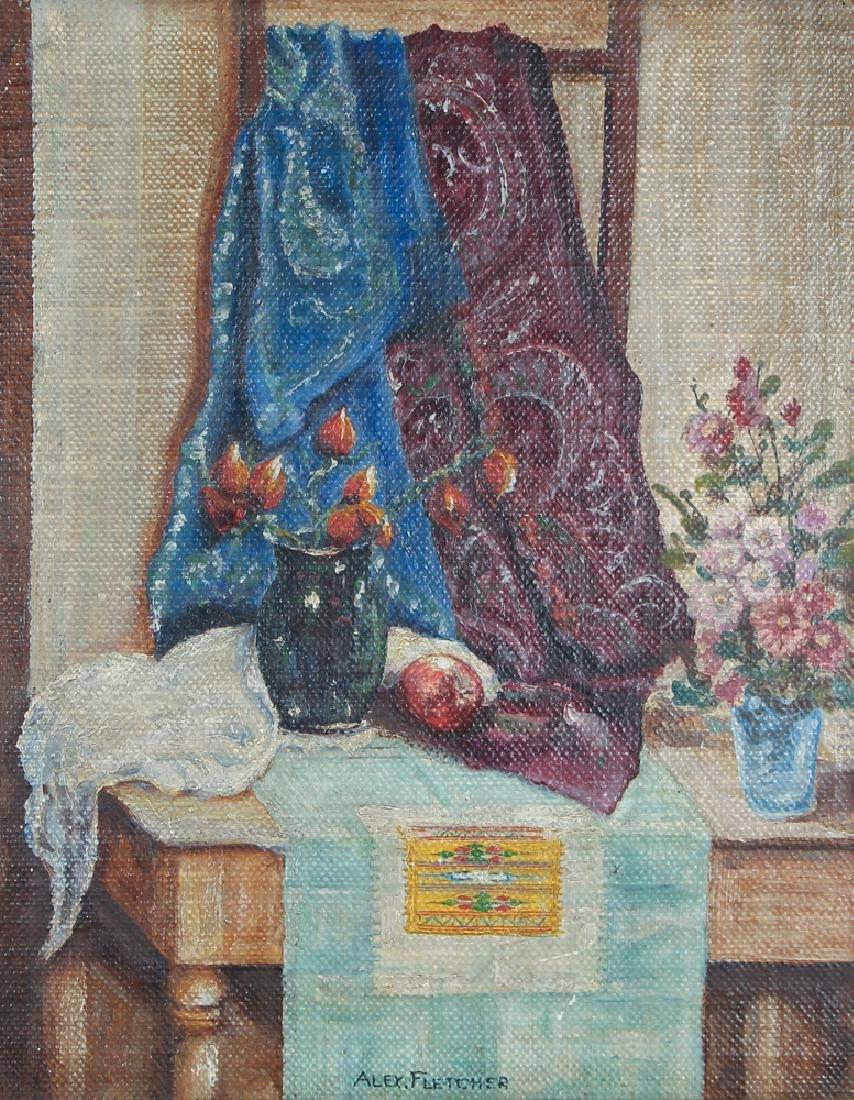 Alex Fletcher Studio Still Life painting