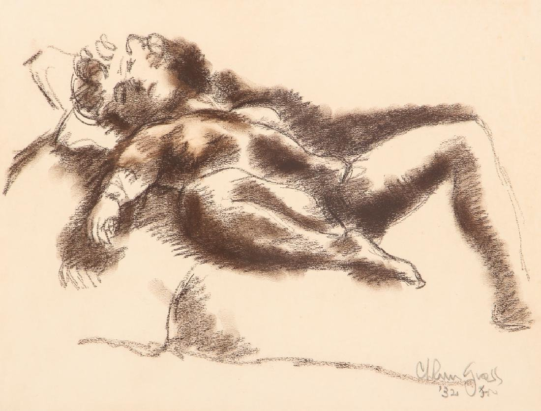 Chaim Gross 1932 drawing Reclining Nude