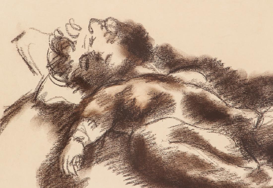 Chaim Gross 1932 drawing Reclining Nude - 4