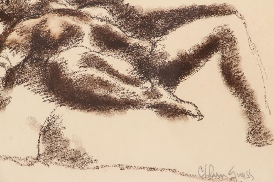 Chaim Gross 1932 drawing Reclining Nude - 5