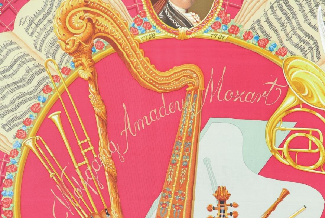 Framed Hermes Silk Scarf Mozart Theme - 3