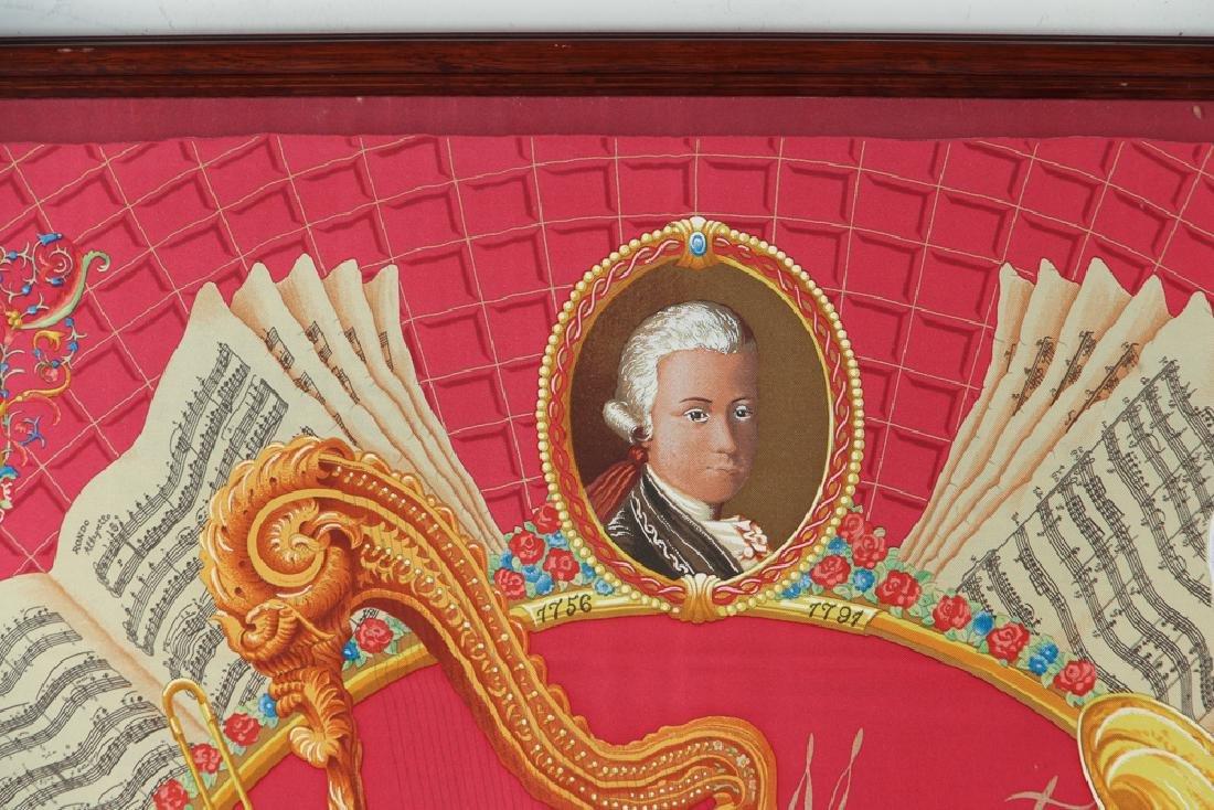 Framed Hermes Silk Scarf Mozart Theme - 4
